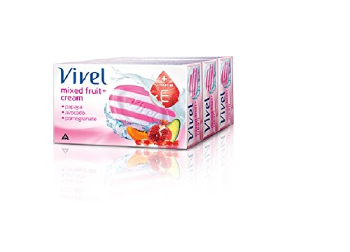 Vivel Mixed Fruit and Cream Soap, 100g (Pack of 3)  available at amazon for Rs.72
