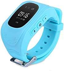 SYL PLUS Q50 Boy's and Girl's Smart Watch with GPS Tracker and Sim Support System for Smartphones (Blue)