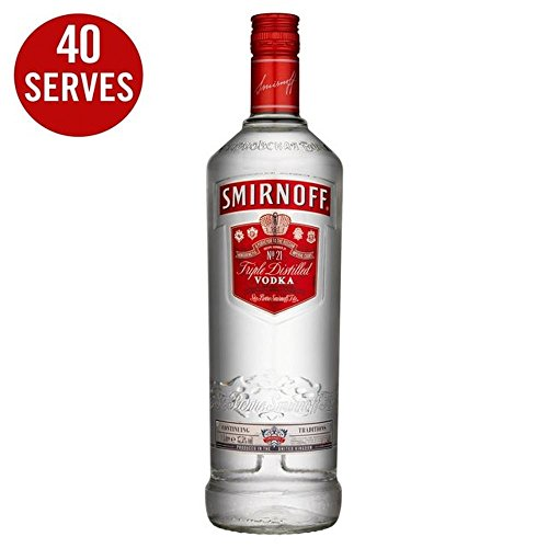 Smirnoff Red Label Vodka (Packung mit 6)