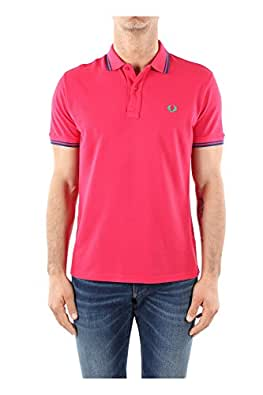 Polo Fred Perry Homme Coton Oeillet 301021483116 Fuchsia 44 - XL Slim Fit
