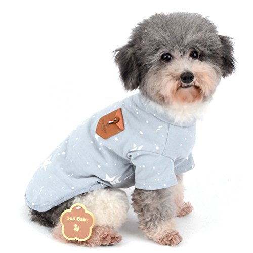 Zunea Puppy Hund T-Shirts Weiche Baumwolle Star Muster Kurz Ärmel Pet Kleidung Kostüm für kleine Hunde -