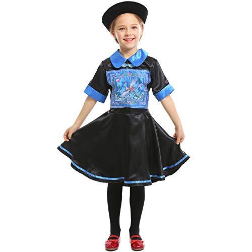 COSOER Chinesisches Traditionelles Zombie Eltern-Kind-Kostüm Halloween Cosplay Party Adult Kid - Chinesische Kostüm Für Kleinkind