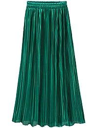 Femme Robe ÉTé Sexy Élégant Chic Simple Mode Taille Haute Plissé Solides  Longues Cocktail Party Plage Jupe Boho Dames Casual… 6108c5148d14