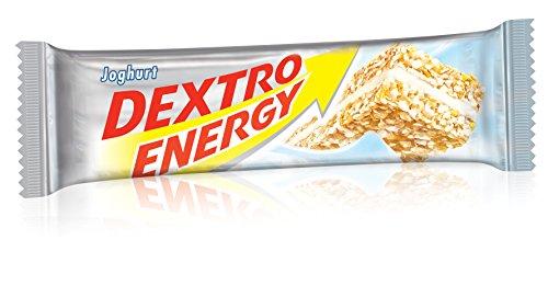 Dextro Energy Energie-Riegel Joghurt / Leckerer Getreide-Riegel mit dextrosereicher Creme-Füllung & hohem Kohlenhydrat-Gehalt für Ausdauersportler / 25 Riegel (25 x 35g)