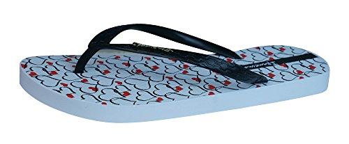Ipanema Temas Flip Flops femmes / Sandales blanc / noir