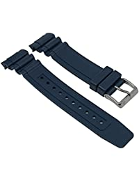 Replacement Band Watch Band plastic Rubber Strap dark blue fits for Citizen Promaster Diver´s Watch BN0100 28141