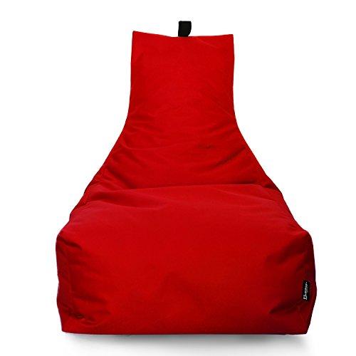 BuBiBag Sitzsack Lounge Sitzsack Sitzkissen XXL Tobekissen Bodenkissen Beanbag Kissen, für Kinder und Erwachsene (Rot)