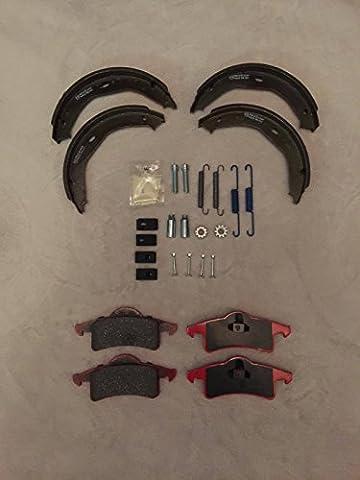 Carlson Nty en céramique Frein de parking arrière Plaquettes de frein et chaussures et kit de réparation pour Jeep Grand Cherokee WJ 99?04
