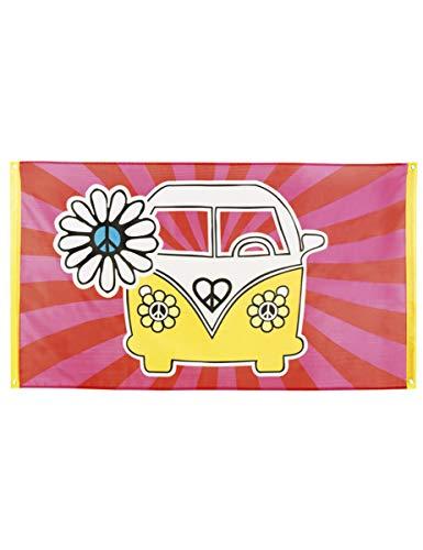 Boland, Banner hippie de poliéster 150 x 90 cm para fiesta de los 70