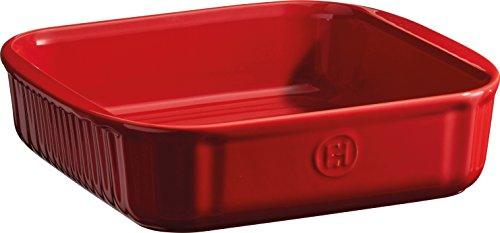 Emile Henry Eh342020 Moule Carré Céramique Rouge Grand Cru 22,5 X 21 X 5,5 cm