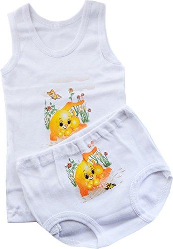 La Bortini Unterwäsche Baby Kinder Unterhemd Höschen SET 74