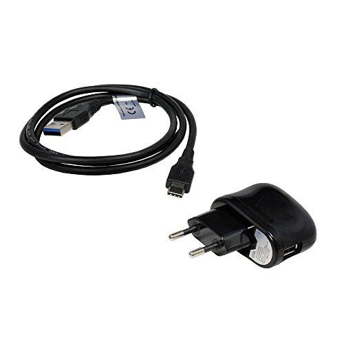 P4A Mobile-Laden USB Adapter + Datenkabel USB-C, 2,1A für Kyocera Qua tab QZ8, unterstützt USB 3.0, Kyocera-3