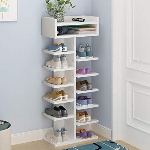 Hua hua furniture porta scarpe, organizzatore regolabile a 7 livelli con gradini mdf per 15 paia di armadi per riporre le scarpe con pezzi di ricambio facili da montare (colore : a)
