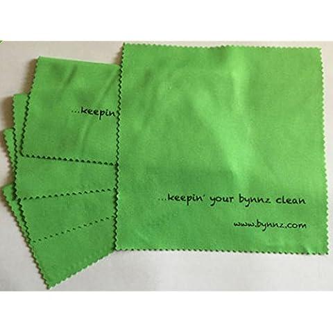 Set di 5 Super Green Clean panno per pulizia in microfibra per occhiali, Occhiali da sole