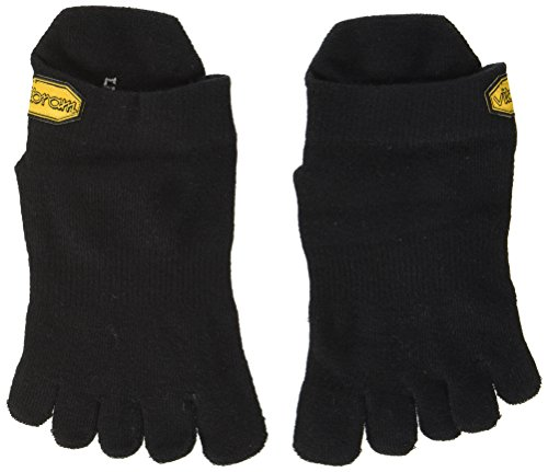 Vibram FiveFingers Herren Athletic No Show Socks, Black, M -
