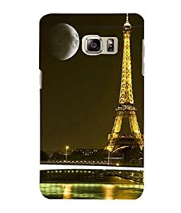 printtech Paris Tower Lights Moonlight Back Case Cover for Samsung Galaxy Note 5 Edge::Samsung Galaxy Note 5 Edge 2