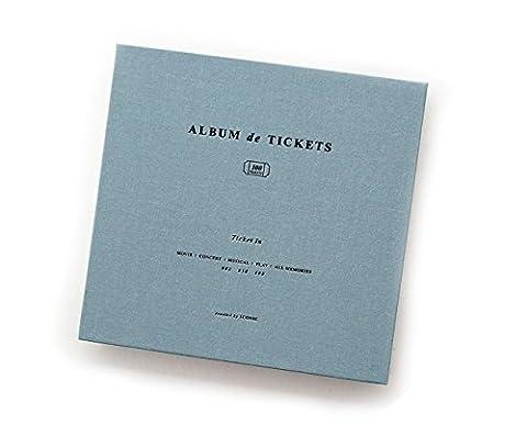 ICONIC Ticket in - Ticket Stub Organizer, Ticket Album, Ticket Stub Diary (Indi Blue)