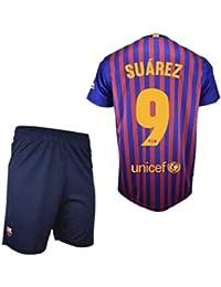 Conjunto Camiseta y Pantalon 1ª Equipación 2018-2019 FC. Barcelona -  Réplica Oficial Licenciado - Dorsal 9 Suarez… 0efe914e8fd6