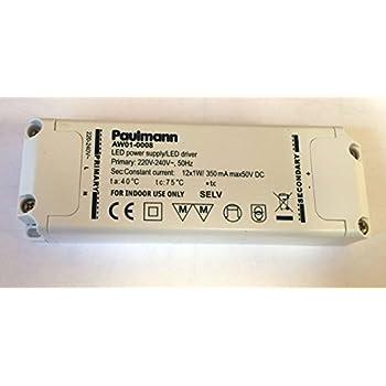 Paulmann AW01-0008 Led Trafo 12x1W 12W 12V Led Power
