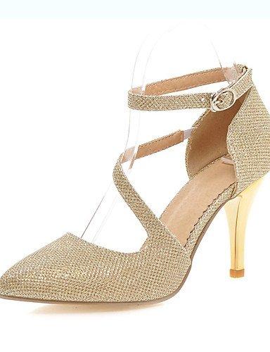 WSS 2016 Chaussures Femme-Mariage / Habillé / Soirée & Evénement-Argent / Or-Talon Aiguille-Talons / Bout Pointu-Talons-Paillette silver-us4-4.5 / eu34 / uk2-2.5 / cn33