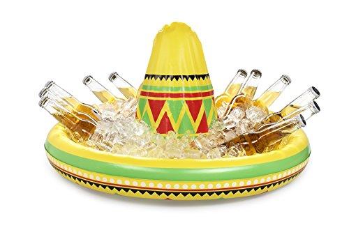 NPW NPW48865 gigantischer mexikanischer Hut-Aufblasbarer Sombrero Getränkehalter Celebration Nation, gelb, One Size (Feuer Nation Kostüm)