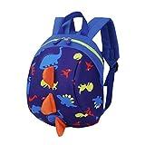 Trada Kindergartentasche, Baby Jungen Mädchen Kinder Dinosaurier Muster Tiere Rucksack Kleinkind Schultasche/Wickelrucksack mit Sicherheitsleinen für Babys/Rucksäcke für Kleine Kinder (Dunkelblau)