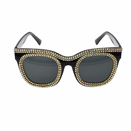 Cvbndfe Sonnenbrille Retro Retro Baroque Sonnenbrille für Frauen Crystal Cat Eyes Sonnenbrille Fashion Show Style Sonnenbrille Persönlichkeit Strand Sonnenbrille Sonnenbrillenleser für Frauen