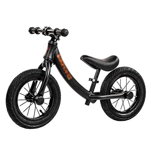 Laufräder Kinder Ab 2 Jahren Jungen Kein Pedal Walking Fahrrad mit Aluminiumlegierung Rahmen Verstellbarer Lenker und Sitz for Alter Von 2 Bis 6 Jahren (Color : Black)