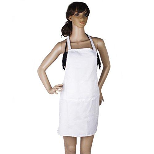 LEORX Sin mangas cocina cocina delantal bolsillo blanco