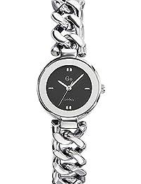 Go Girl Only–695016Damen-Armbanduhr–Quarz Analog–Zifferblatt schwarz Armband Metall silber