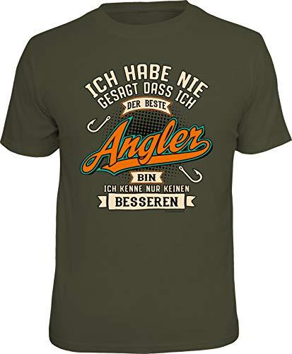 Männer Geschenk T-Shirt für Angler und Fischer: Ich Habe nie gesagt DASS ich der Beste Angler Bin... -