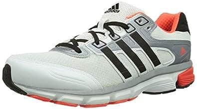 adidas Men's Nova Cushion M White, Cherry Black and Bold Orange Mesh Running Shoes - 7 UK