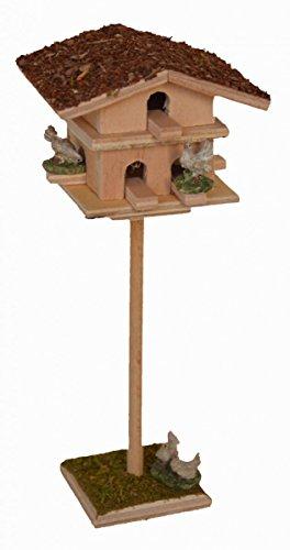 Tauben-Schlag Tauben-Haus mit 7 Tauben für Krippe Weihnachts-Krippe Krippen-Zubehör (Taube-nistkästen)