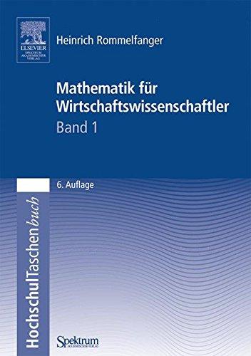 Buchcover: Mathematik für Wirtschaftswissenschaftler I