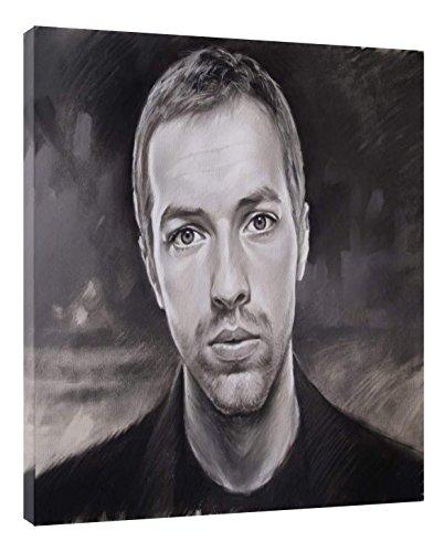 Leinwand-reproduktion, Leinwanddruck (Kunstdruck auf Leinwand, Motiv Chris Martin, auf Rahmen, Anthrazit, 20 x 16 inch -38mm depth)