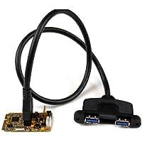 Startech.Com Scheda Adattatore Mini PCI Express SuperSpeed USB 3.0 a 2 Porte con Kit di Staffe e Supporto UASP, Nero/Antracite