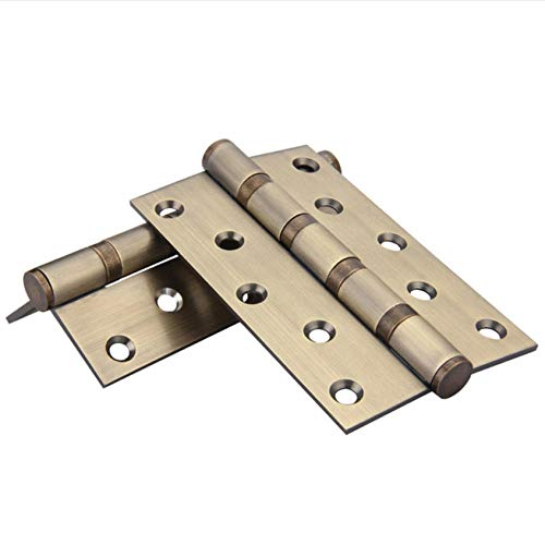 Wasserhahn 1 Pair Stainless Steel Door Hinge Ball Bearing Flush Door Hinges Mute Bearing For Wood Doors Household Furniture Hardware 5 Inch - Ball-bearing Hinge