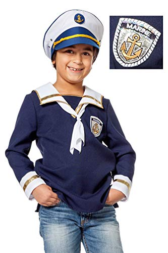 Matrosen Kinder Kostüm - Karneval-Klamotten Matrosen Kostüm Kinder Matrosen Hemd Jungen Größe 152