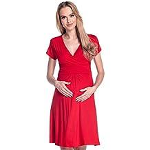 Happy Mama De Las Mujeres Maternidad Jersey Llamarada Bebé Ducha Vestido Corto Mangas 108