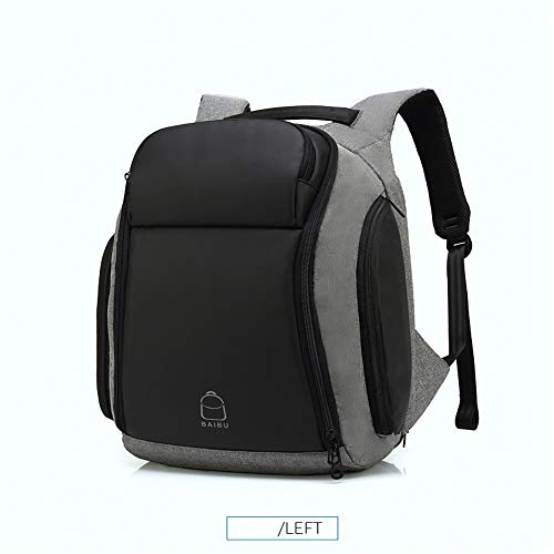 s 17 inch Laptop Anti-Theft Backpack Water Repellent Multifunct Rucksack with USB Charging Port Travel Backpacks Male ()