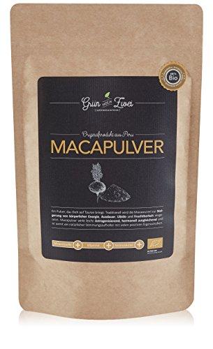 Bio Maca Pulver 200 g Premium Auslese von GrünHochZwei | Superfood in kontrollierter Qualität aus Südamerika (Peru) | Macapulver - das natürliche Potenzmittel und Aphrodisiakum (Superfood Bio)