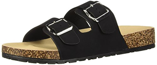 Qupid QupidDelta-01X, Reinschlüpfen, Sandale Damen, Schwarz (schwarz), 35 B(M) EU (Qupid Womens Schuhe)