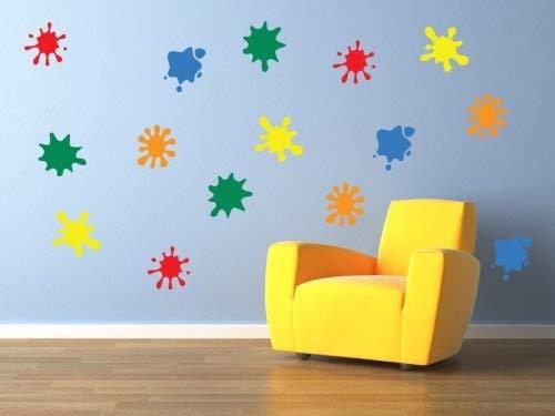 A26 – Concept de vinyle – autocollants de Mur des enfants, Garderie murale de bulles de peinture, enfants amovible, Facile à enlever, Les enfants autocollants, paroi murale d'Art, Art décoration, Adhésif DIY Deco Large bleu clair