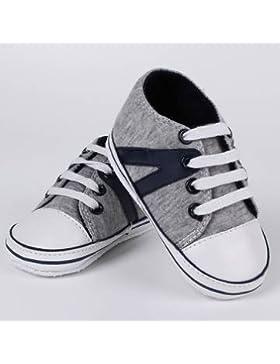 Boy Soft Soles Zapatillas Zapatos de Cuna, 0–18M infantil Infant Baby Girl