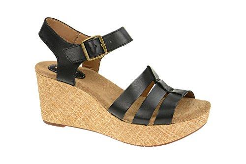 Clarks Damen Sandalette - Riemchen Sandalen CASLYNN HARP 26114934 4 Schwarz, EU 40 (Clarks Schwarz Clogs)