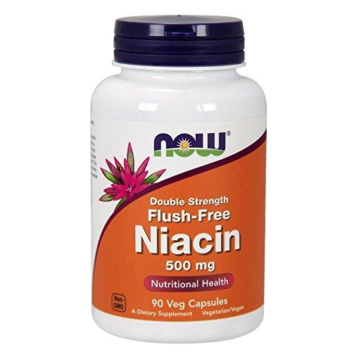 Now Foods, Flush-free Niacin (ohne Hautrötung), doppelte Stärke, 500mg, 90 Kapseln, vegetarisch/vegan (Stärke Doppelte Kapseln 90)