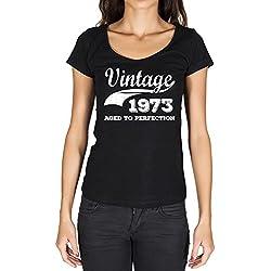 Vintage Aged to Perfection 1973, regalo cumpleaños mujer, camisetas mujer cumpleaños, vendimia añejado a la perfección camiseta mujer, camiseta regalo, regalo mujer