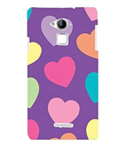 printtech Hearts Love Back Case Cover for COOLPAD NOTE 3 / COOLPAD NOTE 3 PLUS