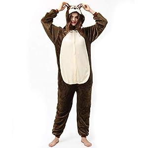 Katara- Pijamas Enteros Diferentes Animales y Tamaños, Adultos Unisex, Color Ardilla marrón, Talla 175-185cm (1744)