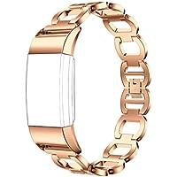 ihee regolabile Morbidezza Smart Watch Bracciale Cinturino in Acciaio per Fitbit Charge 2, Rose (Bar Keepers)